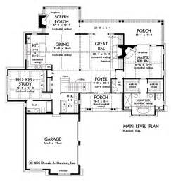 open home plans plan of the week one story hillside walkout houseplansblog dongardner