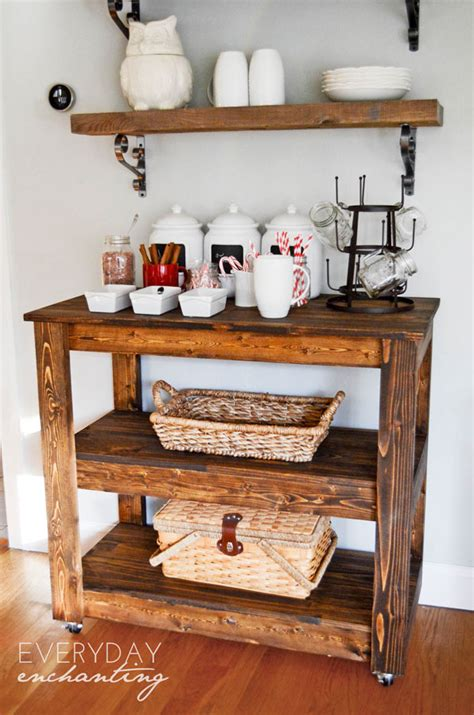 remodelaholic  diy bar carts accessories