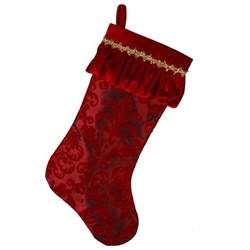 """Christmas Stockings - 20"""" Silk Stocking with Velvet"""