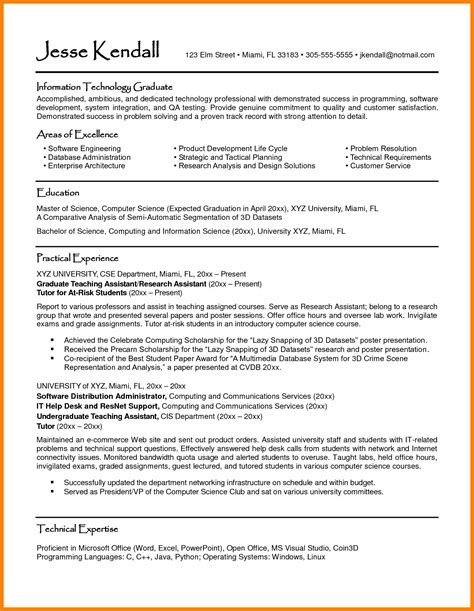 Student Cv by 10 Curriculum Vitae Exle Student Theorynpractice