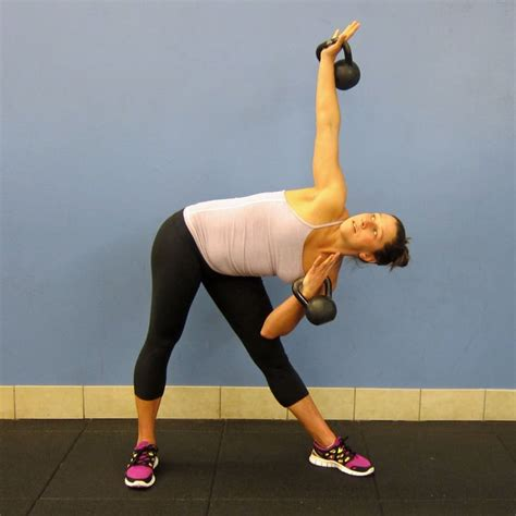 windmills kettlebells kettlebell windmill popsugar fitness ejercicios pesas rusas kettle bell con tone workout rutina weights moves step must copy