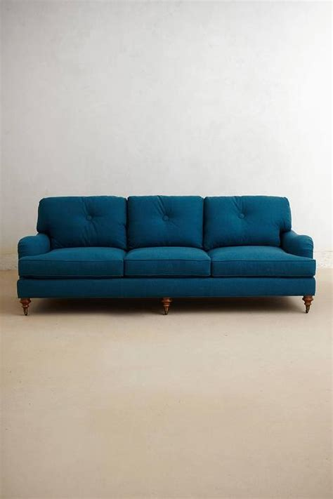 turquoise settee winifred turquoise button tufted sofa
