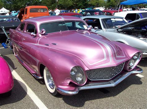 1951 mercury coupe hot pink w fins