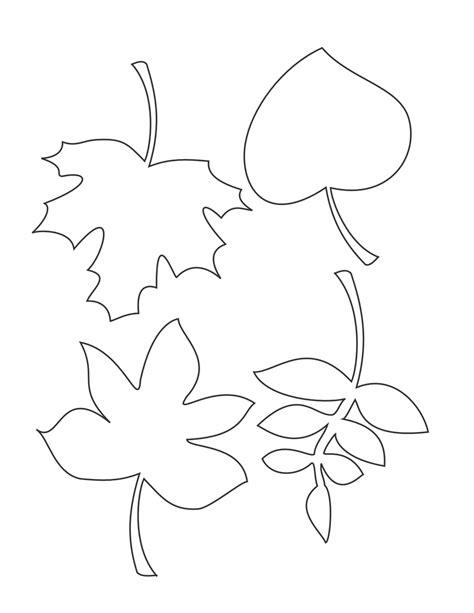 stencil leaves clipart