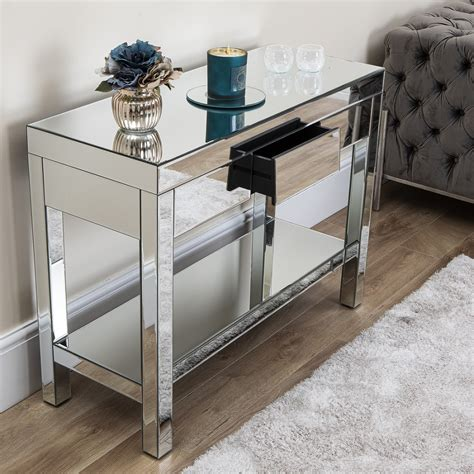 As a living room icon, this coffee table is endowed with rustic, industrial style. Angled Mirrored Furniture Living Room Console Table Coffee Corner Unit Drawers | eBay