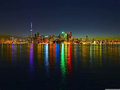 Toronto Skyline Night Wallpapers 4k Desktop Ultra