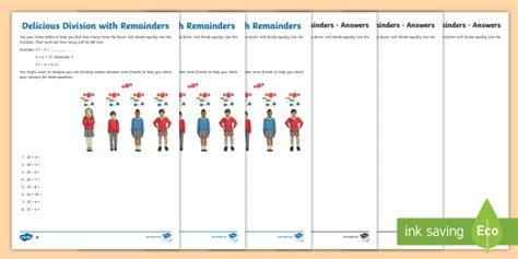 division  remainders worksheet