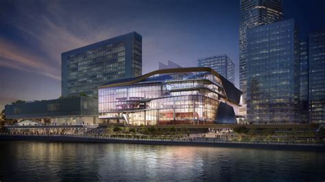 unstudio designs transparent stacked theater  hong kong