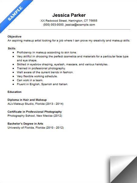beginner makeup artist resume sample resume examples