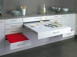Table Cuisine Petit Espace : 60 id es pour un am nagement petit espace ~ Teatrodelosmanantiales.com Idées de Décoration