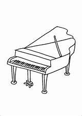 Piano Grand Coloring Pages Printable Freeprintablecoloringpages sketch template