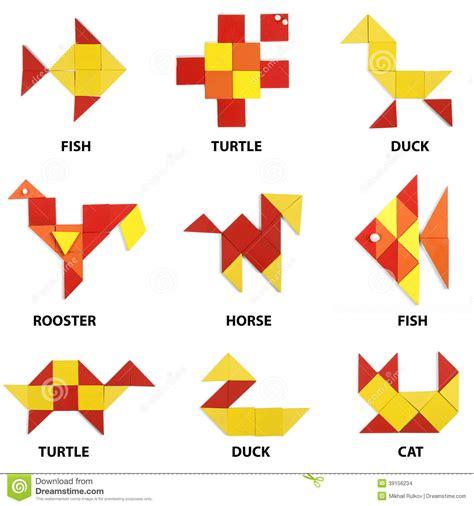 The Animals Set Of Geometric Figures Stock Illustration