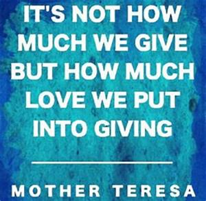 Mother Teresa Quotes On Giving. QuotesGram