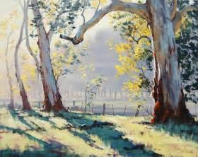 australian gum trees painting by artsaus on deviantart