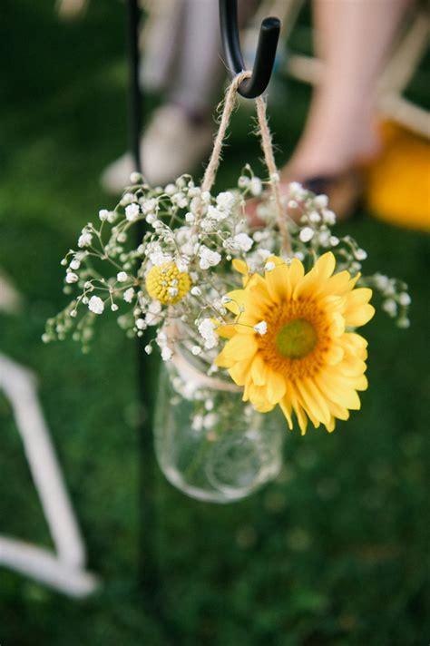 cheerful coral navy mustard diy wedding