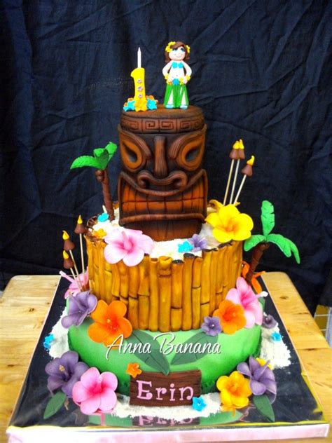 hawaiian luau cakecentralcom