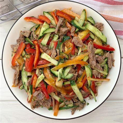 Dārzeņu salāti ar liellopa gaļu - INSTA receptes - tavs ...