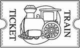 Ticket Train Clipart Clip Colorear Template Dibujos Tickets Coloring Bw Polar Express Tren Cliparts Imagen Imprimir Printable Colouring Transporte Medios sketch template