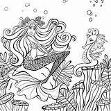 Coloring Mermaid Zendoodle Presents Paradise Mermaids Denyse Cleverpedia Klette Colorir Livro Kunjungi Fairy Adult sketch template