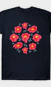 Pretty Flowers With Bright Pink Petals - Floral - T-Shirt ...