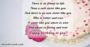 Sister Birthday... Cute Sister Bday Quotes
