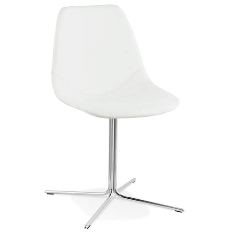 Chaise Blanche Pied Metal by Chaise Design Olala Blanche Avec Pied En M 233 Tal