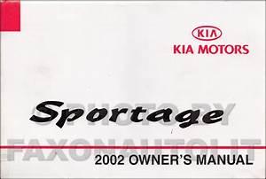 2002 Kia Sportage Repair Shop Manual Original