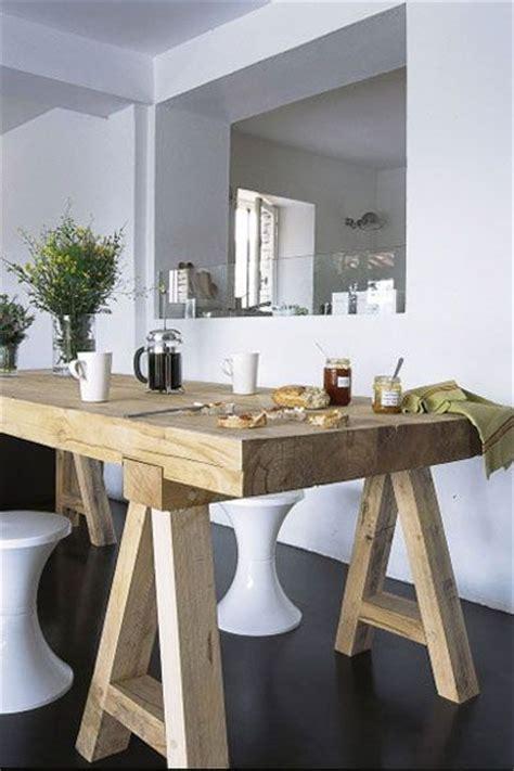 table cuisine bois brut 17 meilleures idées à propos de tables en bois sur
