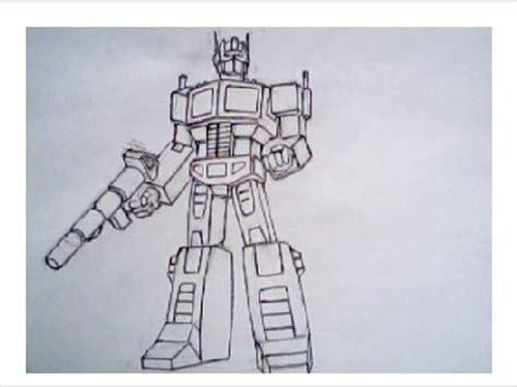 draw optimus prime  transformers robot mode