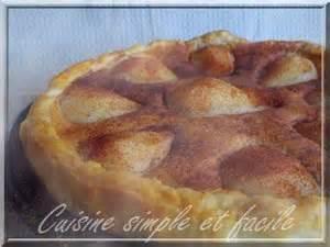 cuisine simple 67 tarte aux poires à la crème d 39 amande cuisine simple et