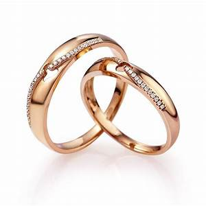 rings rose gold couples matching wedding ring bands for With gold wedding rings for him and her