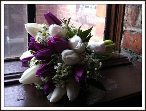 purple tulips  april wedding purple wedding purple