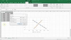 Econ Chart Supply And Demand In Excel Youtube