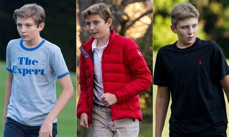barron trump donald dad taller he evolution celebrities president grown imagenes