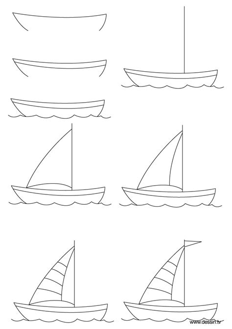 How To Draw A Water Boat by Fishing How To Draw A Sailboat On Water