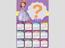 Calendário 2019 Princesa Sofia Montagem para Fotos