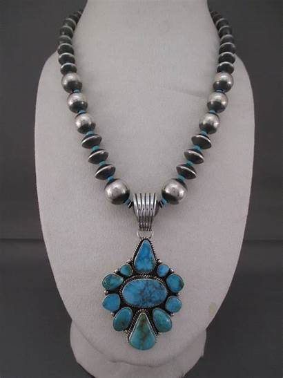 Turquoise Necklace Kingman Pendant Silver Jewelry Sterling