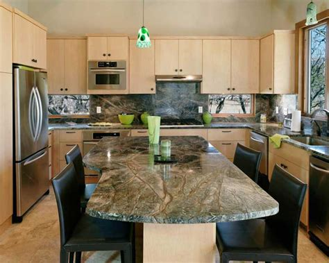 Green Granite Countertops by 43 Kitchen Countertops Design Ideas Homeluf