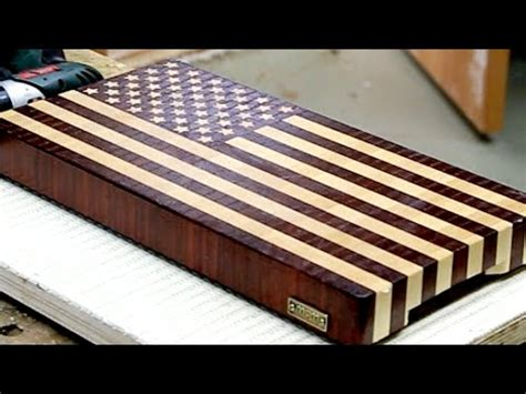 "Making A ""us Flag"" End Grain Cutting Board (to Proper"