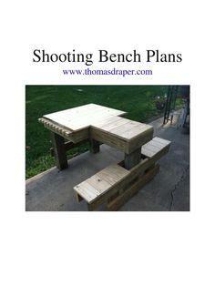shooting bench shooting bench shooting bench plans shooting table