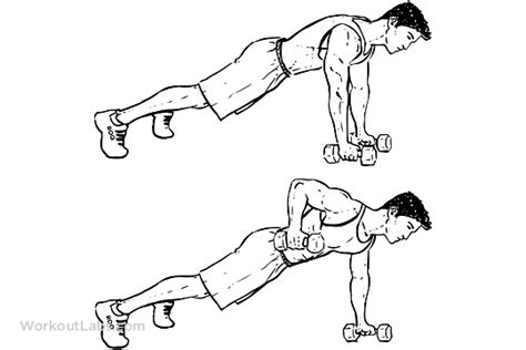 Modified Bicycle Exercise by Renegade Alternating Plank Commando Rows Workoutlabs