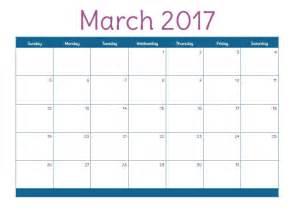 Free Printable Calendars March 2017 Com