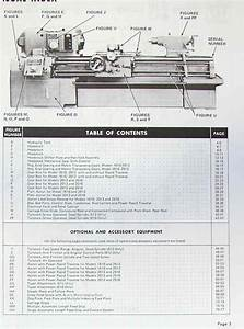 Monarch 610 612 Metal Lathe Parts Manual