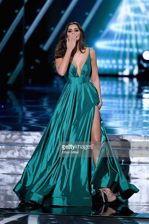 universe  paulina vega evening gown   universe pageant dress thecelebritydresses