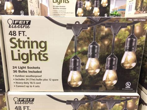 Costco String Lights by Feit Electric 48 Ft Incandescent String Lights Model