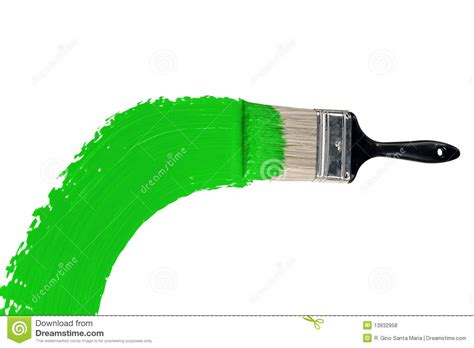 brush with green paint image of paint handle