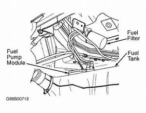 need location of fuel filter six cylinder two wheel drive With fuel line diagram further 2001 pt cruiser leak detection pump location