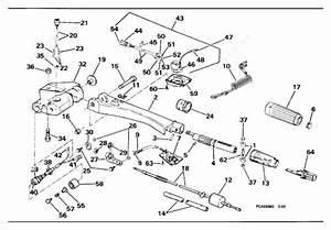 Johnson 1994 60 - J60ttlerv  Steering Handle