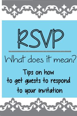meaning of rsvp rsvp meaning of