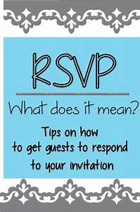 rsvp meaning of With wedding invitation rsvp what does the m mean